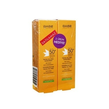 Babe Facial Oil-Free SPF50+ Sunscreen 2x50ml Renksiz
